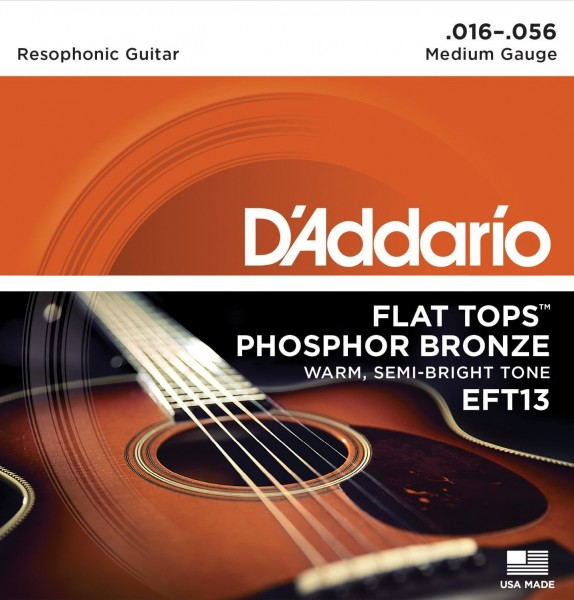 Cтруны для резонаторной гитары D'ADDARIO EFT13 Medium 16-56