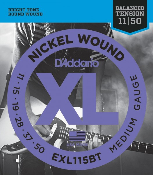 Cтруны для электрогитары D'ADDARIO EXL115BT Blues/Jazz Rock 11-50